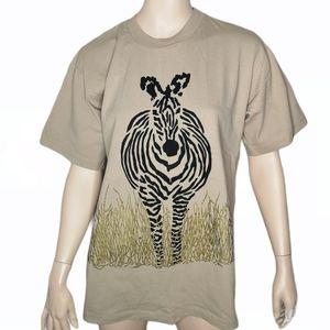 Tinga Tinga Zebra Safari Made in Kenya Cotton Tee